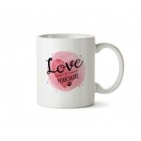 Aşk Yorkshire'dır Porselen Kupa