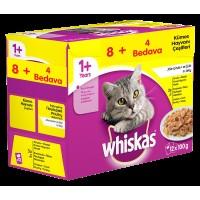 Whiskas Pouch Multipack Kümes Hayvanı Çeşitleri Karışık Konserve Kedi Maması 12x100 gr (12'li Paket)