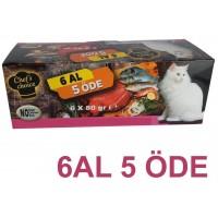 Chefs Choice  Kıyılmış Ton Balıklı Kısırlaştırılmış Konserve Kedi Maması 6 Al 5 Öde