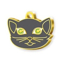 24 Ayar Altın Kaplama British Shorthair Kedi Künyesi