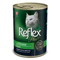 Reflex Plus Kıyılmış Tavuklu Konserve Yetişkin Kedi Maması 400 gr