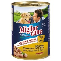 Miglior Cane Parça Etli Tavuklu ve Hindili Konserve Köpek Maması 405 Gr