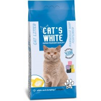 Cats White Marsilya Sabun Kokulu Topaklaşan Doğal Bentonit Kedi Kumu 6 Lt 5 Kg