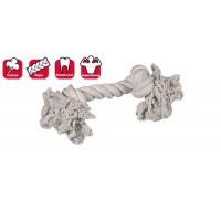 Karlie 2 Düğümlü İp Köpek Oyuncağı L 35  Cm Beyaz