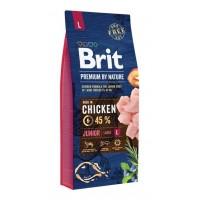 Brit Premium By Nature Junior L Büyük Irk Tavuklu Yavru Köpek Maması 15 Kg