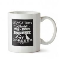 Her Zaman Köpek 1 Tasarım Porselen Kupa
