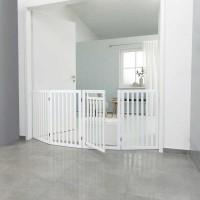 Trixie Köpek Bariyeri, Kapılı, 60-160cmx81cm Beyaz