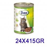 Dax Tavşanlı Kedi Konservesi 415 Gr. (24 Adet)