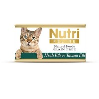 Nutri Feline Hindi Etli Ve Tavşanlı Tahılsız Yetişkin Kedi Konservesi 85 Gr