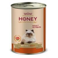 Honey Premium Biftekli Yetişkin Kedi Konservesi 415 Gr