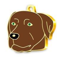 24 Ayar Altın Kaplama Chocolate Labrador Köpek Künyesi