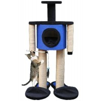 *Agira Robot Yuvalı Kedi Tırmalama ve Oyun Standı Yükseklik 100 cm
