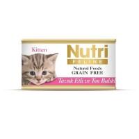 Nutri Feline Kitten Tavuklu Ve Ton Balıklı Tahılsız Yavru Kedi Konservesi 85 Gr