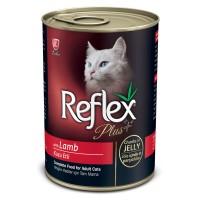 Reflex Plus Kuzu Etli Konserve Yetişkin Kedi Maması 400 gr