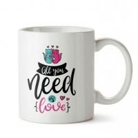 Aşk İhtiyaç Tasarım Porselen Kupa