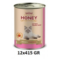 Honey Premıum Kitten Tavuklu Yavru Kedi Konservesi 415 Gr (12 Adet)