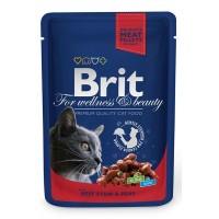 Brit Premium Sığır Etli&Bezelyeli Pouch Kedi Maması 100 Gr