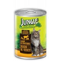 Jungle Kuzu Etli Ve Sebzeli Yetişkin Kedi Konservesi 415 Gr