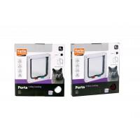 Karlie 4 Yönlü Kilitli Kedi Kapısı 19.2X20 Cm Beyaz