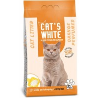 Cats White Portakal Kokulu Topaklaşan Doğal Bentonit Kedi Kumu 12 Lt 10 Kg
