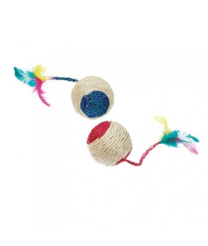Karlie Çıngıraklı Hasır Top Karışık Renkli 6 cm